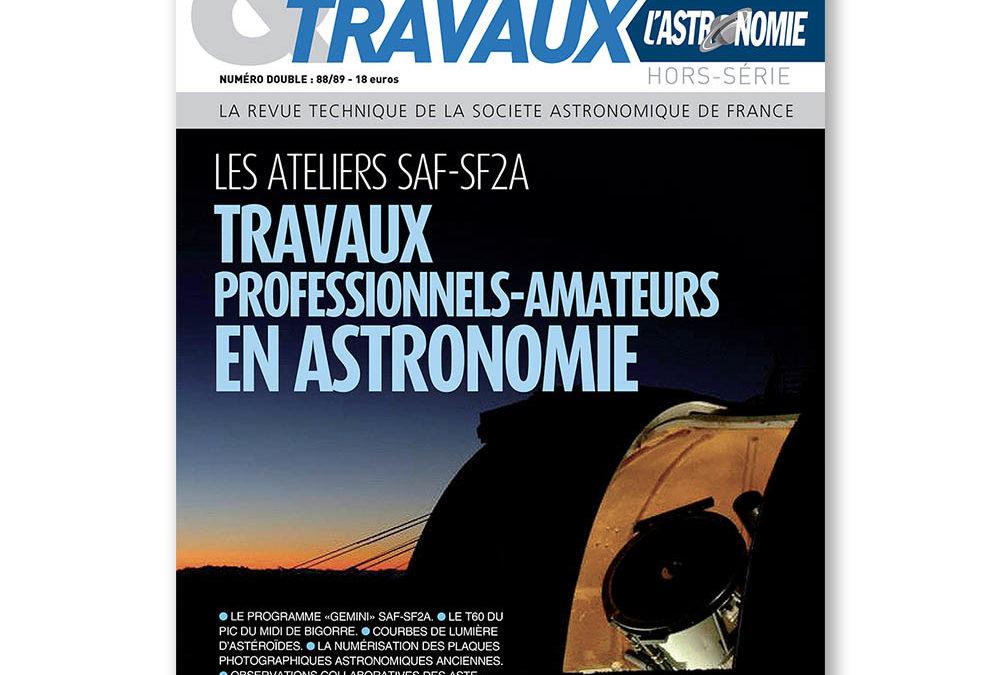 Travaux professionnels – amateurs en astronomie