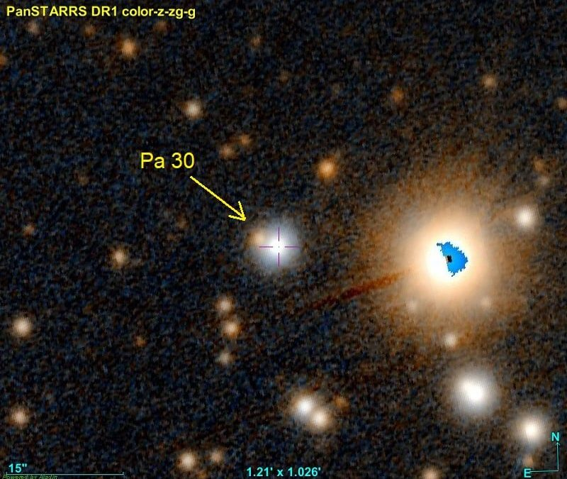 Le résidu et l'origine de la supernova historique 1181AD